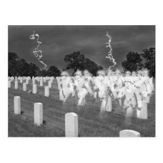 Ghost Soldiers at Jefferson Baracks Postcard