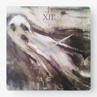 Ghost stories 01 square wall clock
