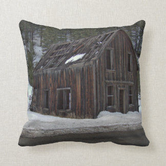 Ghost Town in Winter Throw Pillow