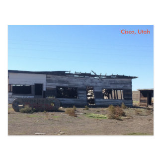 Ghost town of Cisco - Utah Postcard