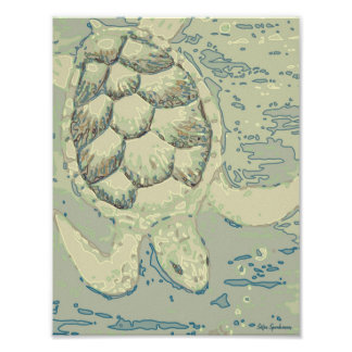 Ghost Turtle 8.5x11 Archival Matte Poster Print