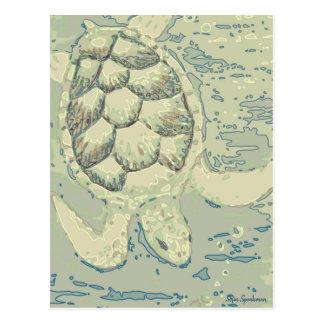 Ghost Turtle Postcard
