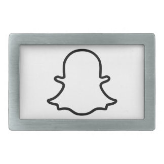 Ghost - White Rectangular Belt Buckle