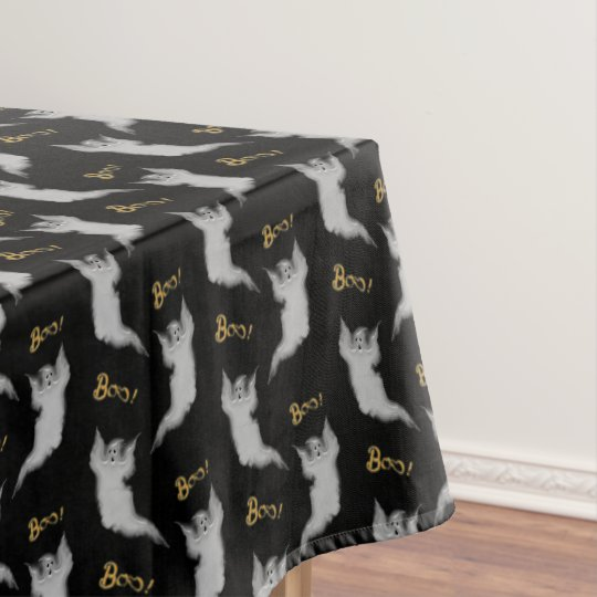 Ghost White Scrolls Tablecloth