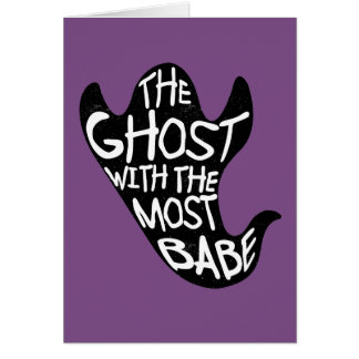 Ghost With The Most Purple Greetings Card