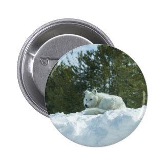 Ghost Wolf 2 Inch Round Button
