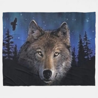 GHOST WOLF FLEECE BLANKET