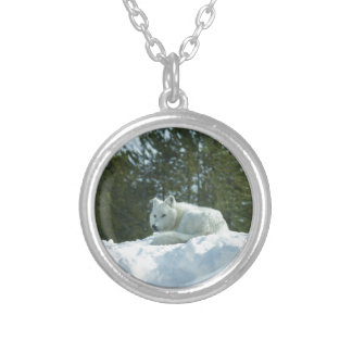 Ghost Wolf Silver Plated Necklace