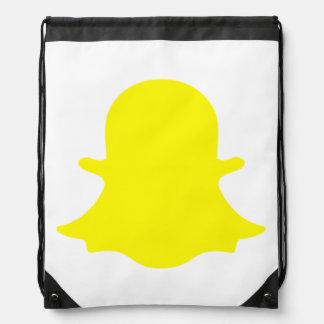 Ghost - Yellow Drawstring Bag