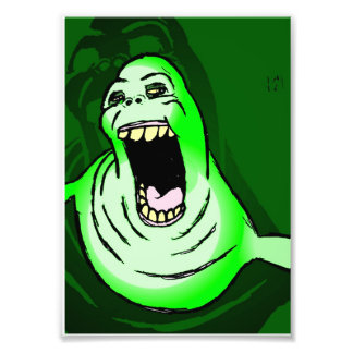 Ghostbusters' Slimer Photo Print