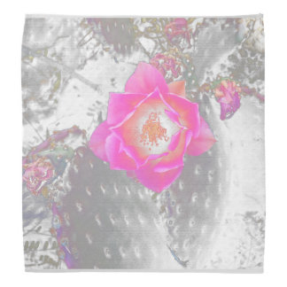 Ghosted pink cactus flower bandana