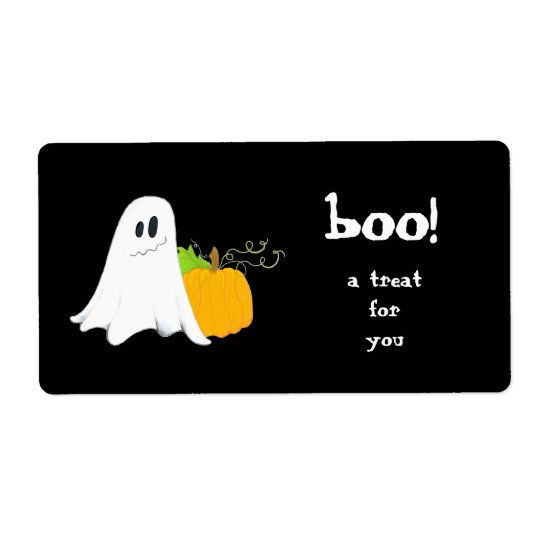 Ghostie ~ Treat Bag label Shipping Label