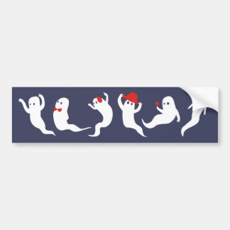 Ghosties About Town Bumper Sticker