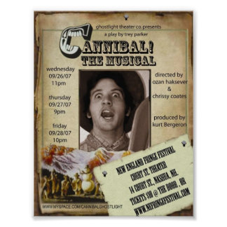Ghostlight Cannibal the Musical Poster