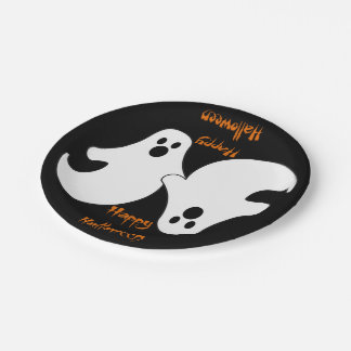 Ghostly Duo Paper Plate