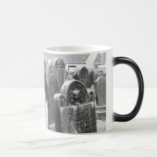 Ghostly graveyard haunted magic mug