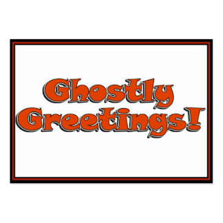 Ghostly Greetings! Halloween Text Image Business Card