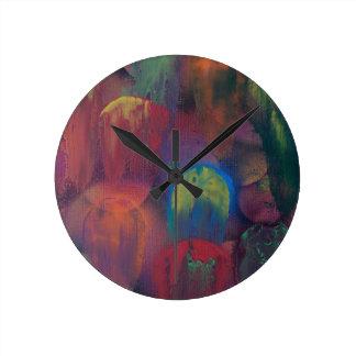 Ghostly Jellyfish Round Clock