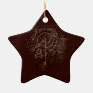 Ghostly SteamPunk Motif Ceramic Ornament