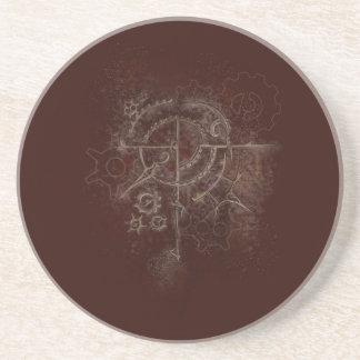 Ghostly SteamPunk Motif Coaster