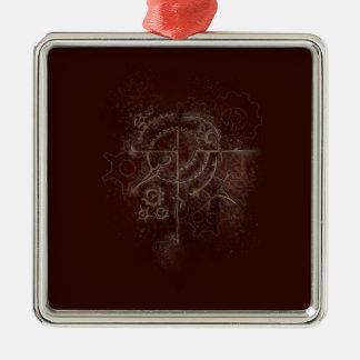 Ghostly SteamPunk Motif Metal Ornament