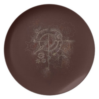 Ghostly SteamPunk Motif Plate