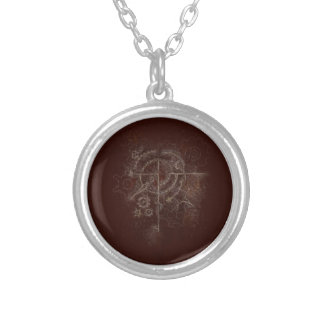 Ghostly SteamPunk Motif Silver Plated Necklace