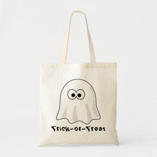 Ghostly Trick-or-Treat Tote Budget Tote Bag