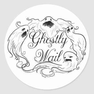 Ghostly Wail Classic Round Sticker