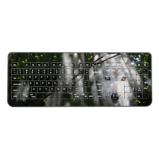 Ghostly Wolf Face Wireless Keyboard