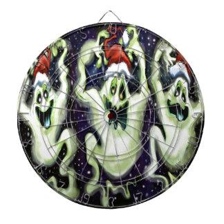 Ghostly Xmas Trio Dartboard