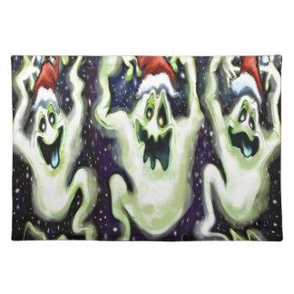 Ghostly Xmas Trio Placemat