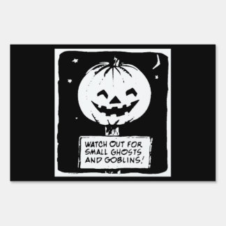 Ghosts And Goblins Sign