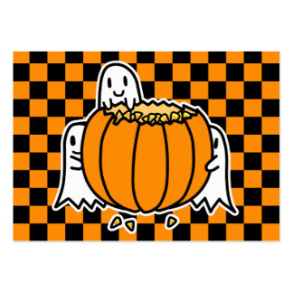 Ghosts and Pumpkin Halloween card Pack Of Chubby Business Cards