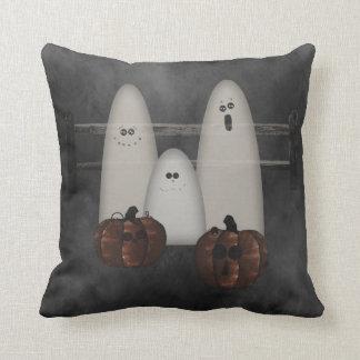 Ghosts And Pumpkins Halloween Pillow