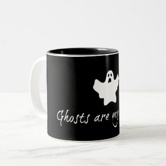 Ghosts are my roomies 11oz mug