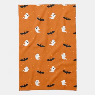 Ghosts & Bats Halloween Kitchen Towel