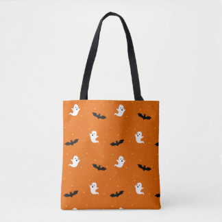 Ghosts & Bats Halloween Tote