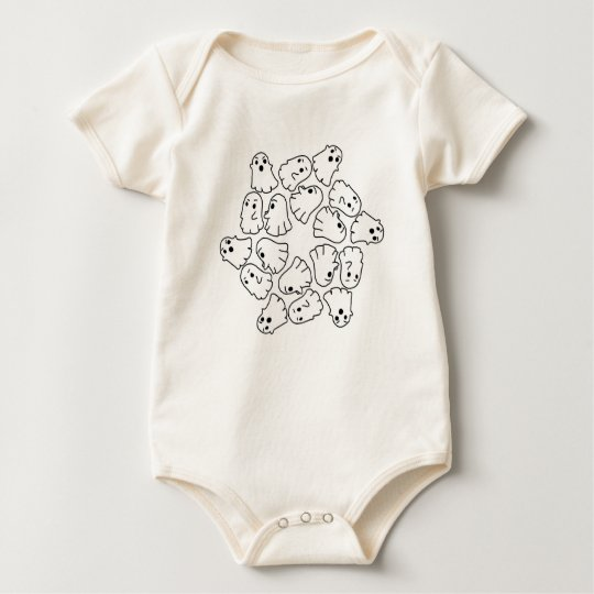 ghosts cute Halloween ghost Baby Bodysuit