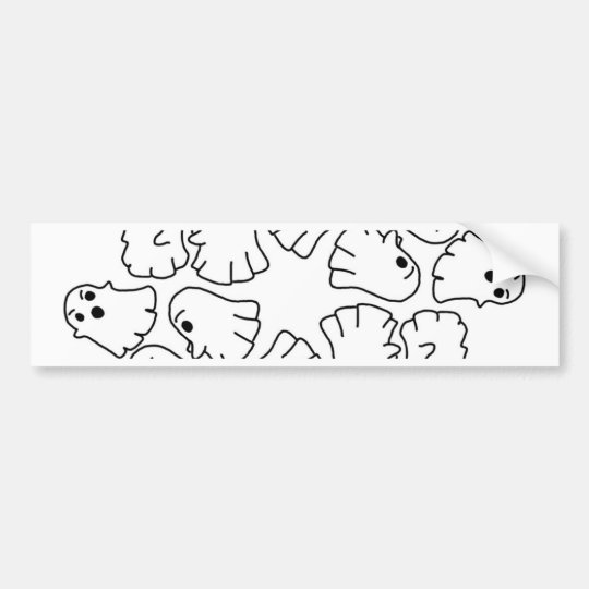 ghosts cute Halloween ghost Bumper Sticker