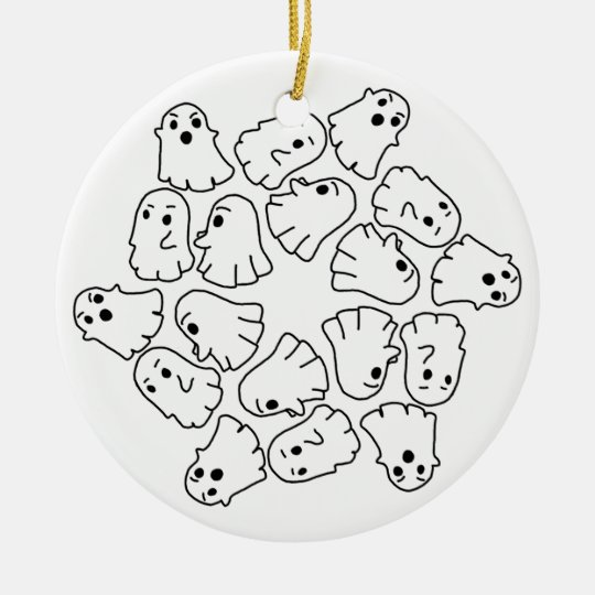 ghosts cute Halloween ghost Ceramic Ornament