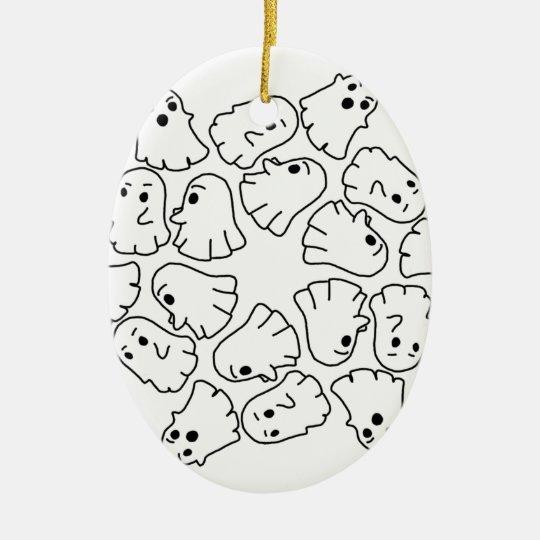 ghosts cute Halloween ghost Ceramic Ornament