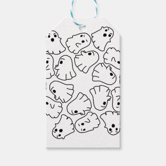 ghosts cute Halloween ghost Gift Tags