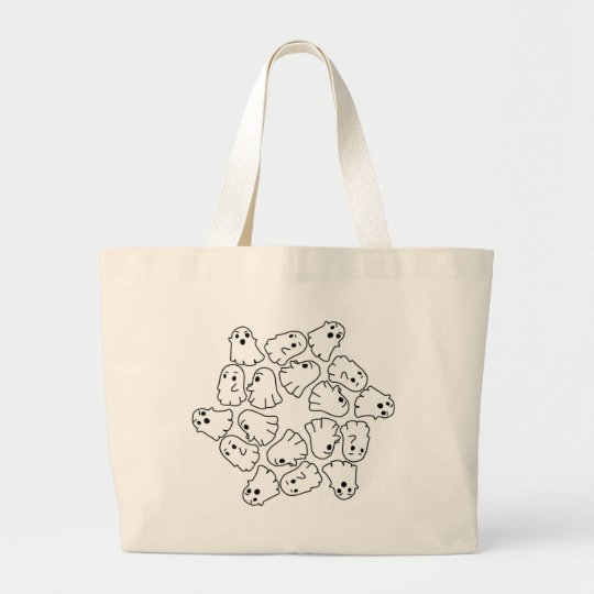 ghosts cute Halloween ghost Large Tote Bag