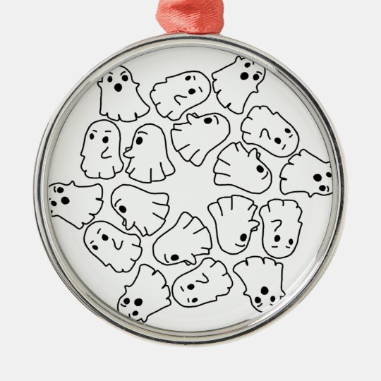 ghosts cute Halloween ghost Metal Ornament