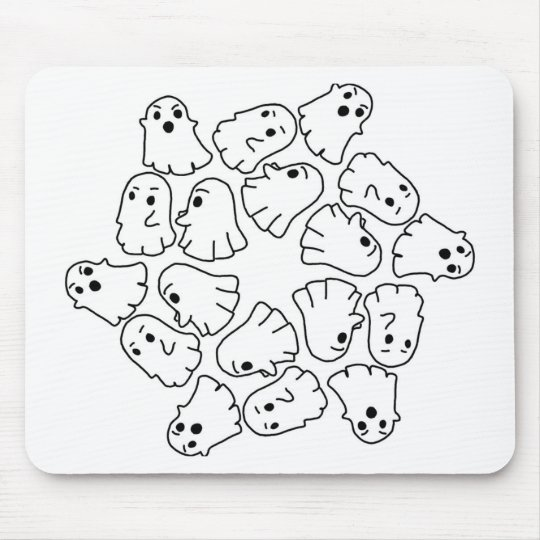 ghosts cute Halloween ghost Mouse Pad
