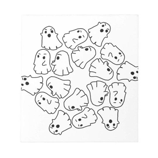 ghosts cute Halloween ghost Notepad