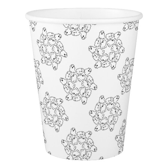 ghosts cute Halloween ghost Paper Cup