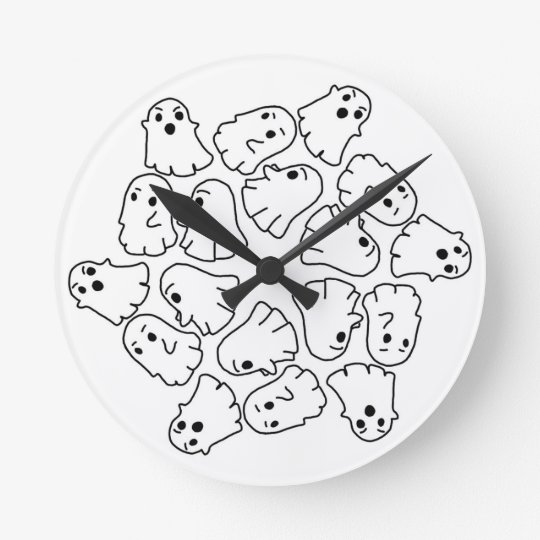 ghosts cute Halloween ghost Round Clock