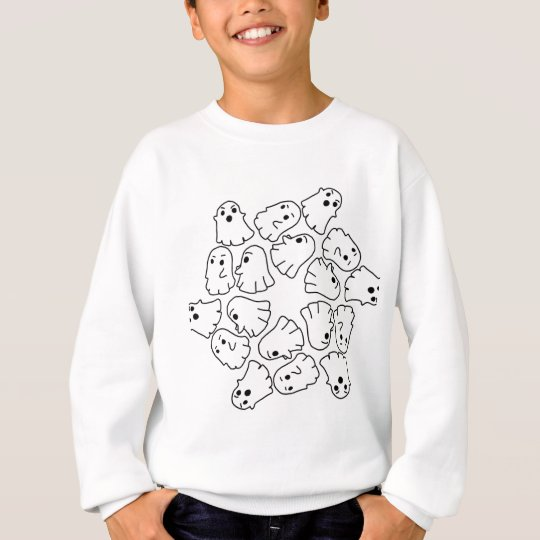 ghosts cute Halloween ghost Sweatshirt